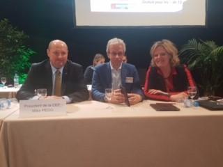 Voorzitter Lieke Vogels en oud-voorzitter Sjoerd Pieterse spreken op congres Franse bond